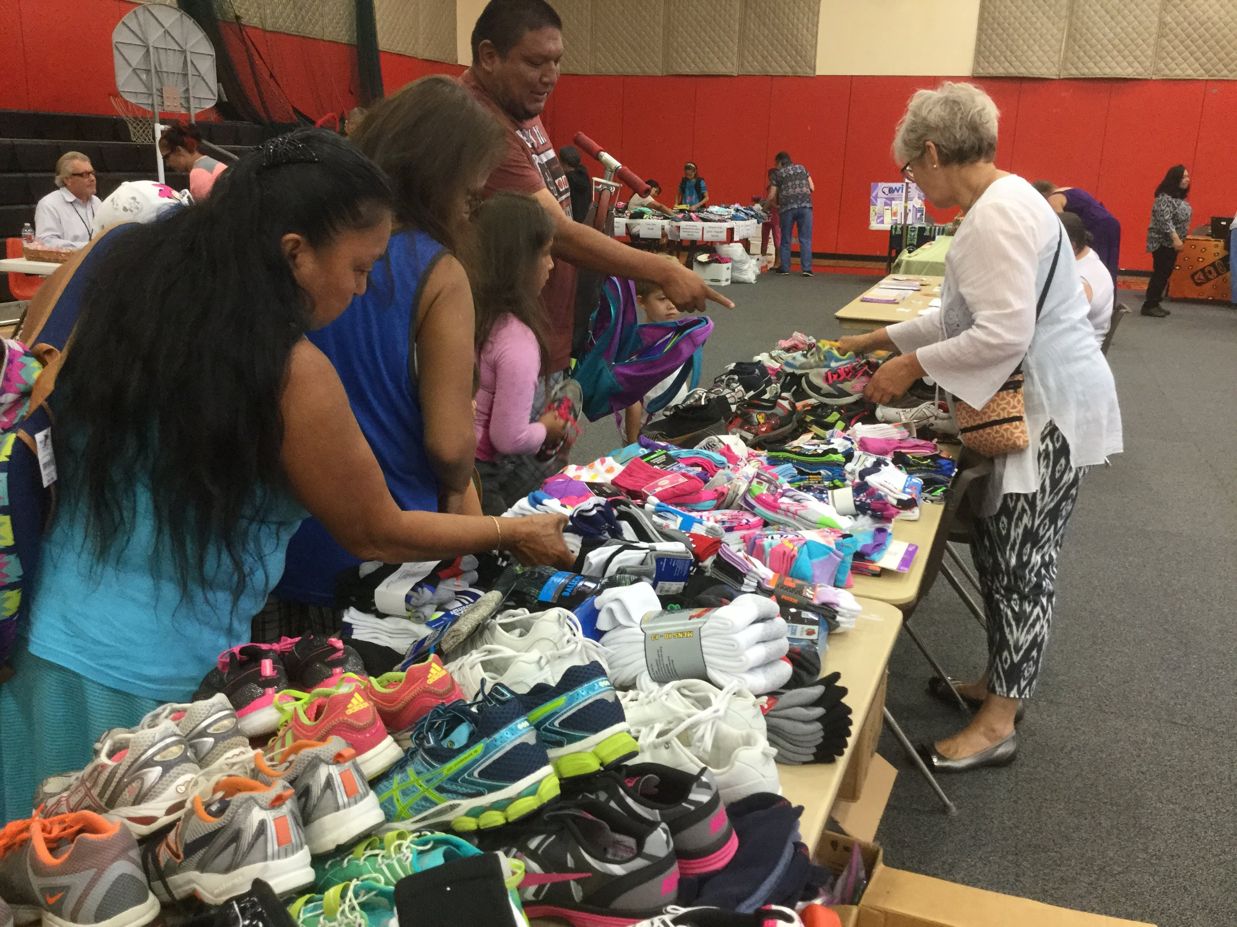 giving socks and shoes on lower elwha - lutheran indian ministries