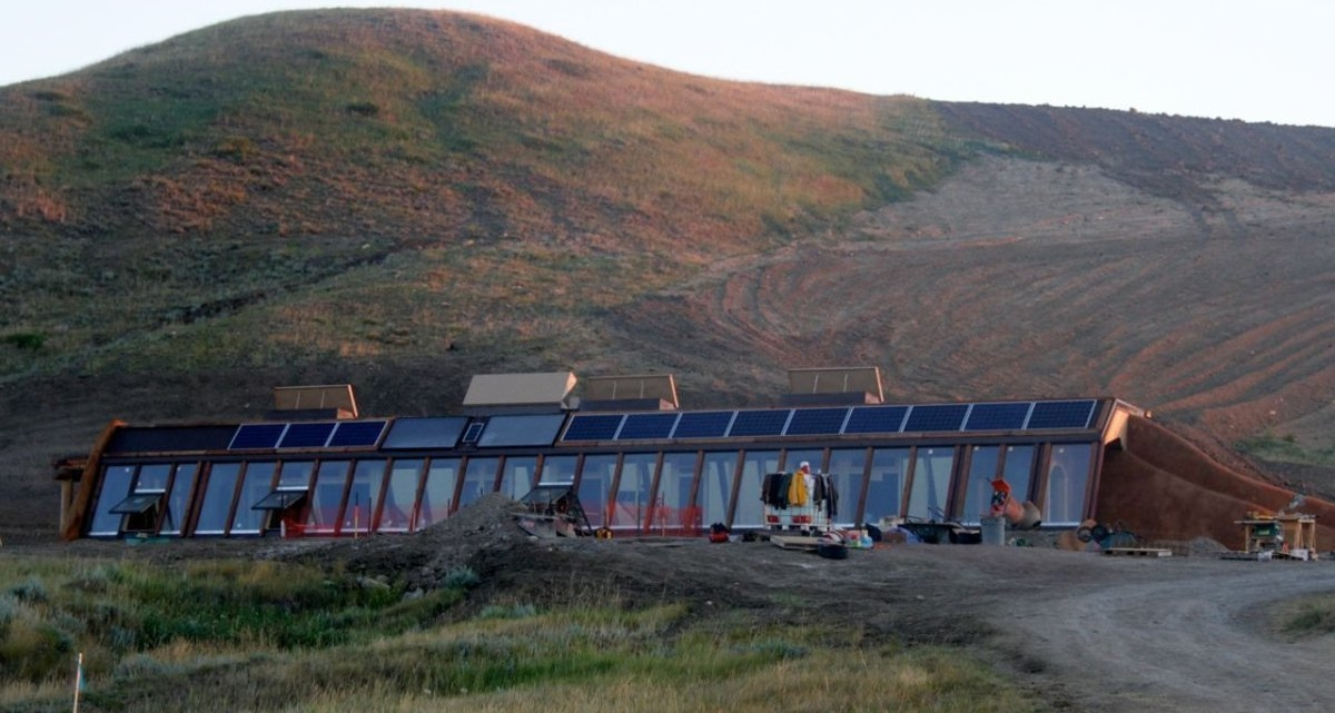 First Earthship on Native Land