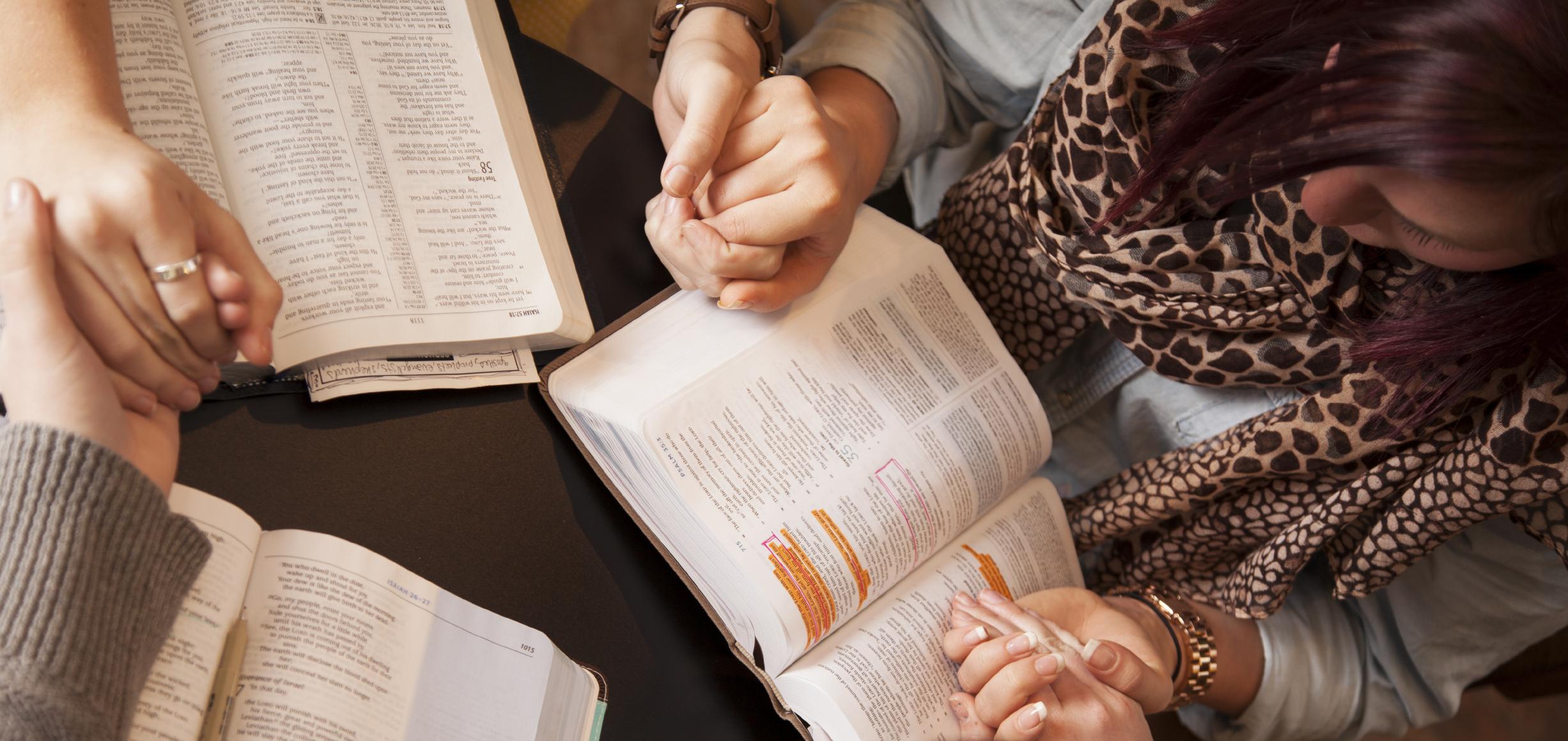 Praying together.