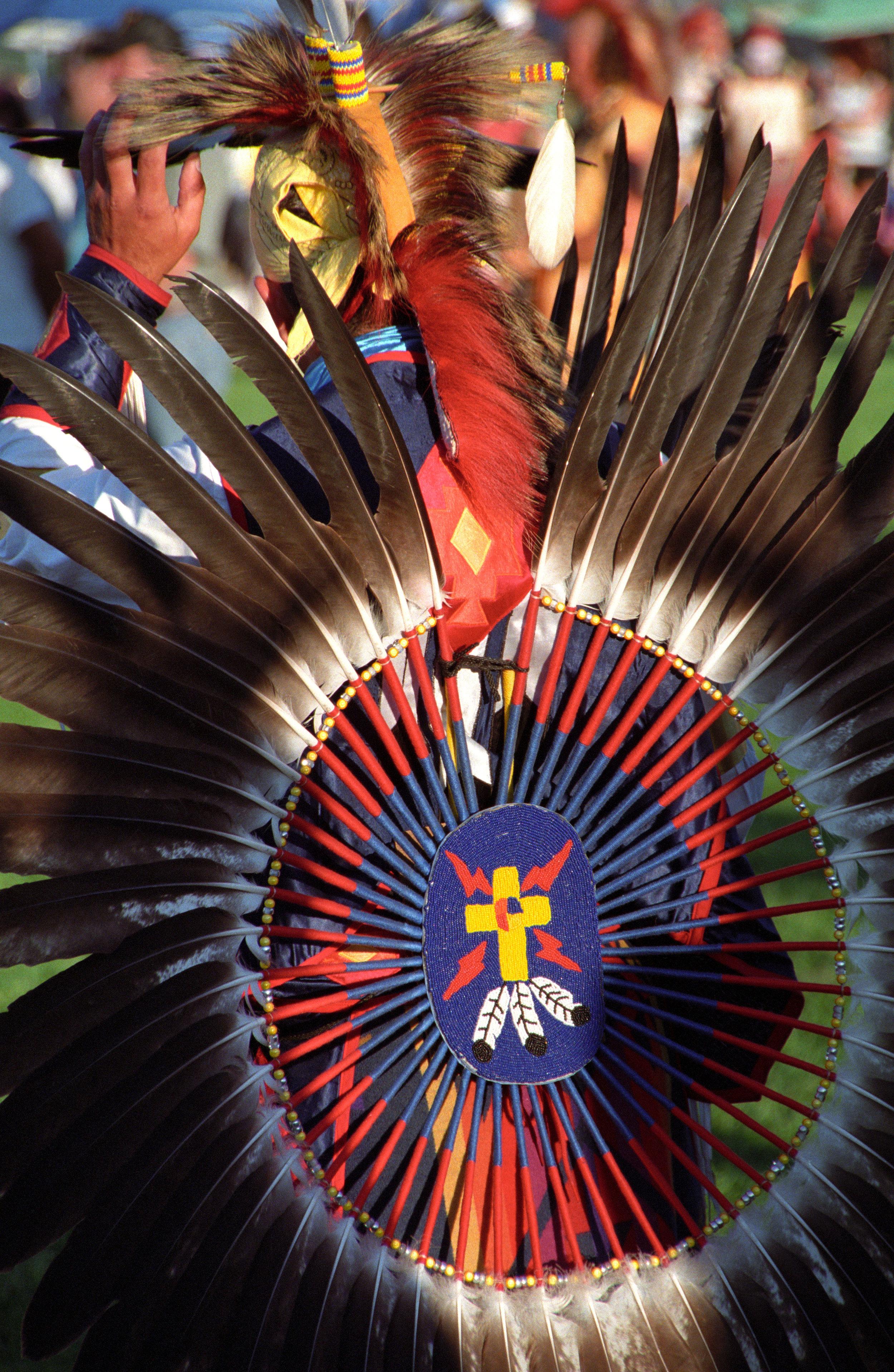 beaded cross at a powwow