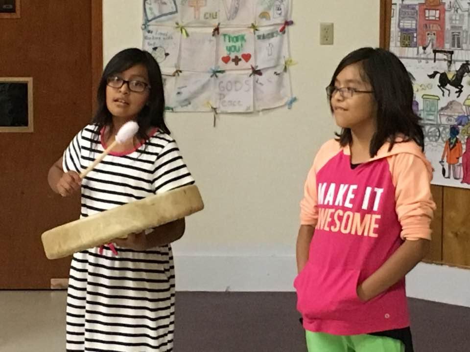 Navajo children singing