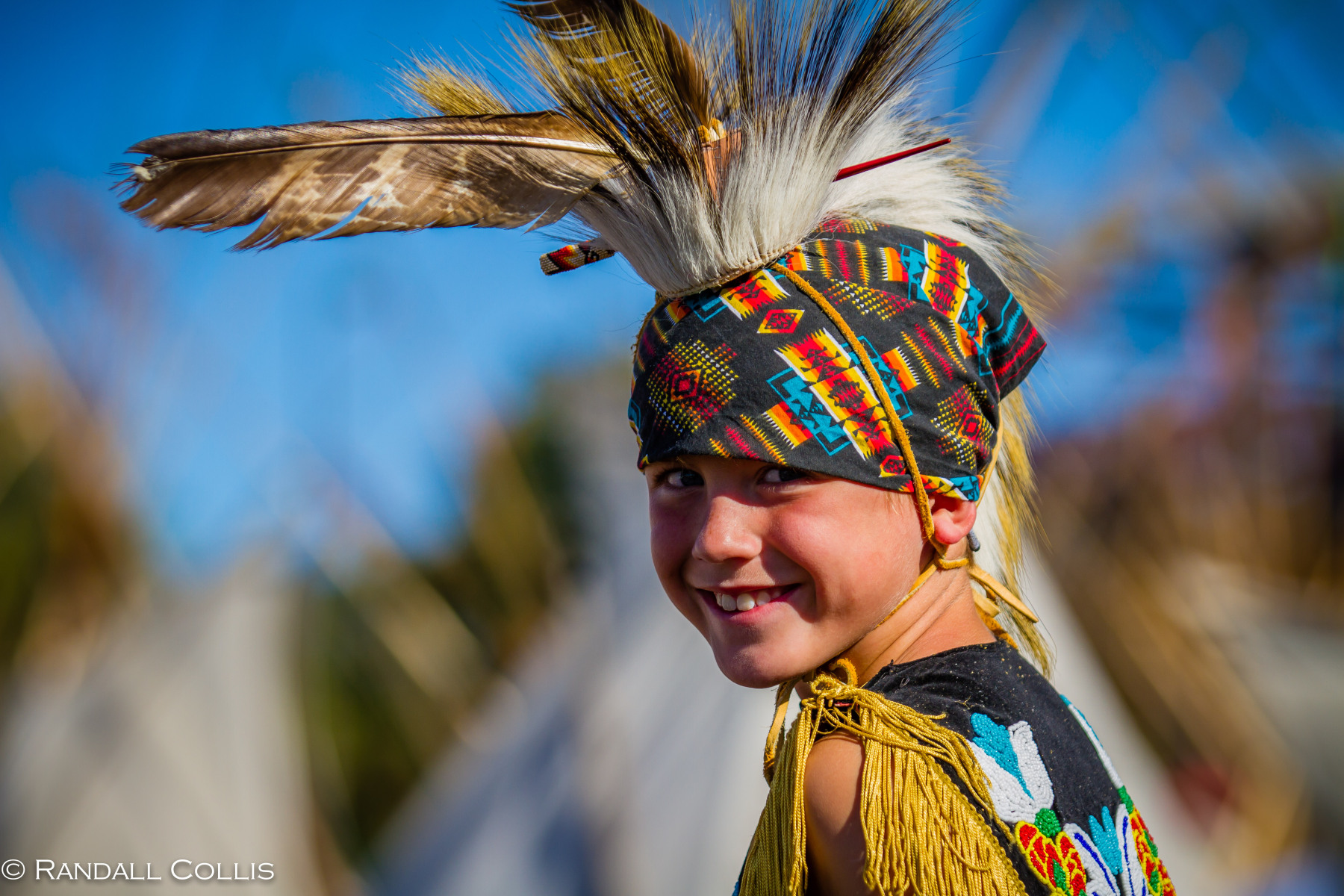 native boy smiling