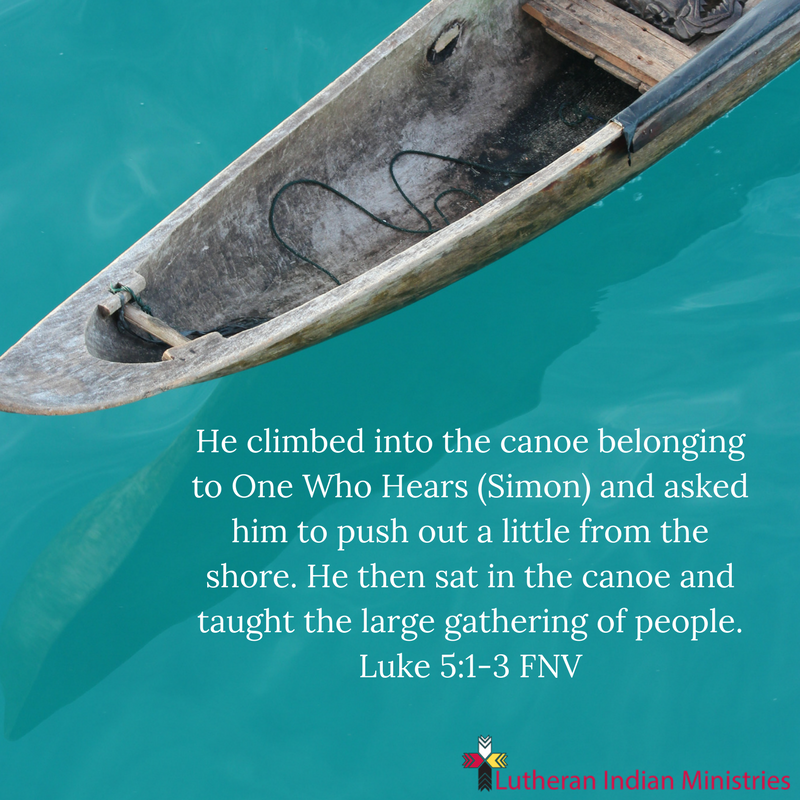 luke 5 sat in the boat and pushed out from the shore and taught fnv lutheran indian ministries