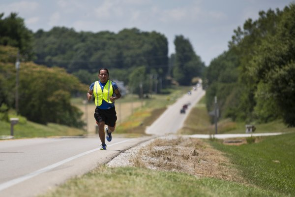 The Longest Walk 5.2 relay runner Michael Vernon Shortey lutheran indian ministries