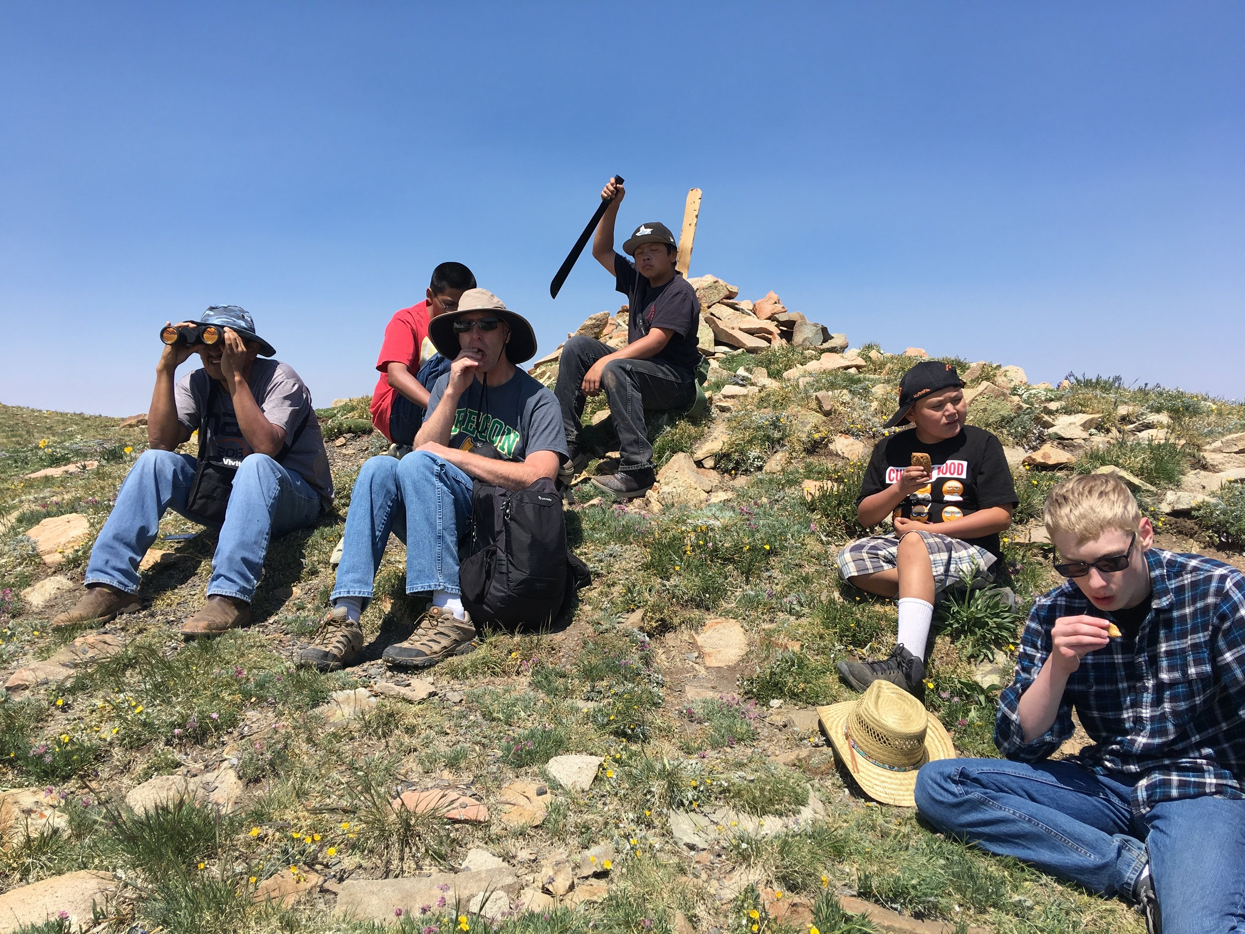 hiking in the mountains colorado mens youth familiy retreat navajo new mexico lutheran indian ministries tim norton