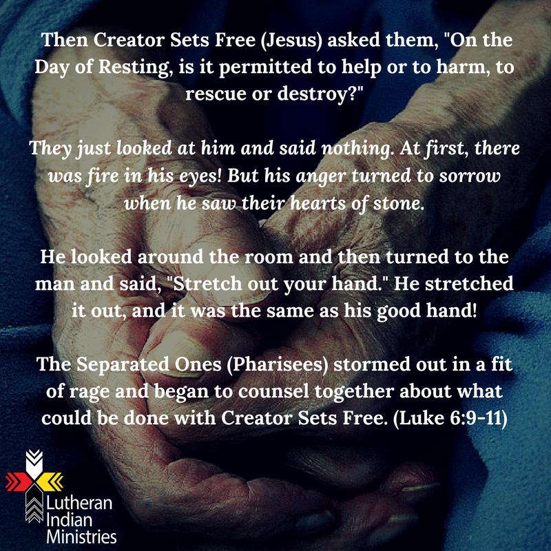 healing of the crippled hand on sabbath luke 6:6-11 fnv lutheran indian ministries