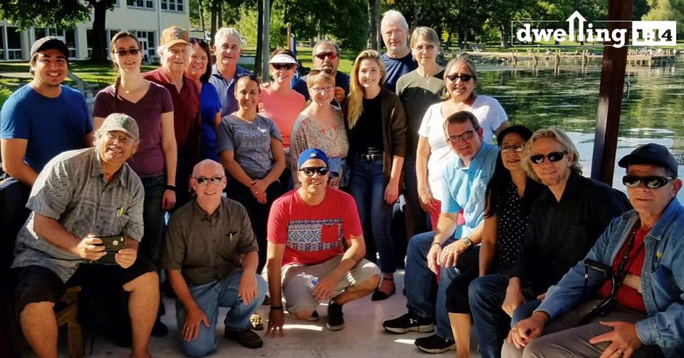 boat ride on Green lake with lutheran indian ministries staff and greg finke of dwelling 1:14