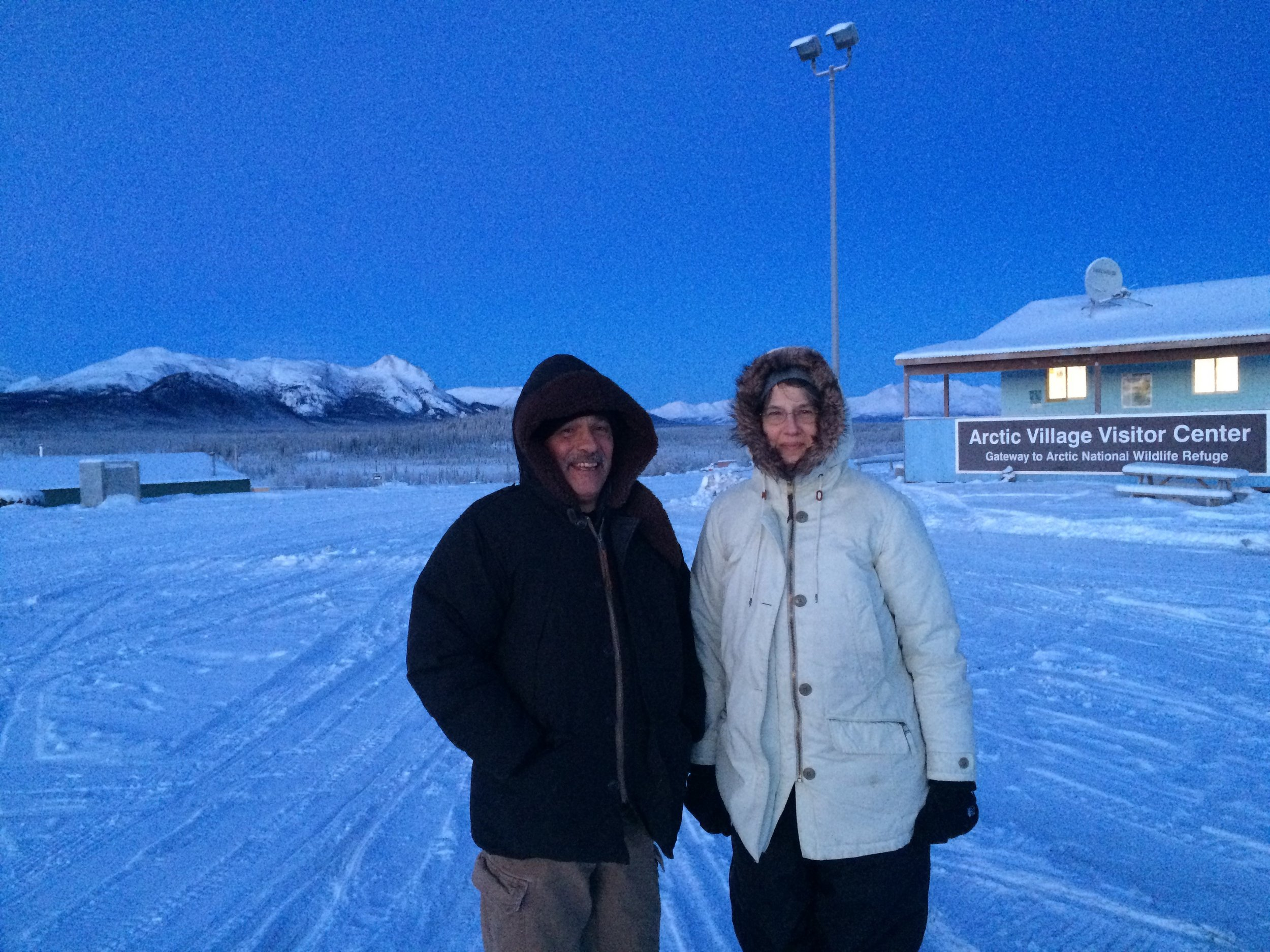 Dave and Rosemary in Arctic Village, a two hour flight, to share a meal and fellowship.