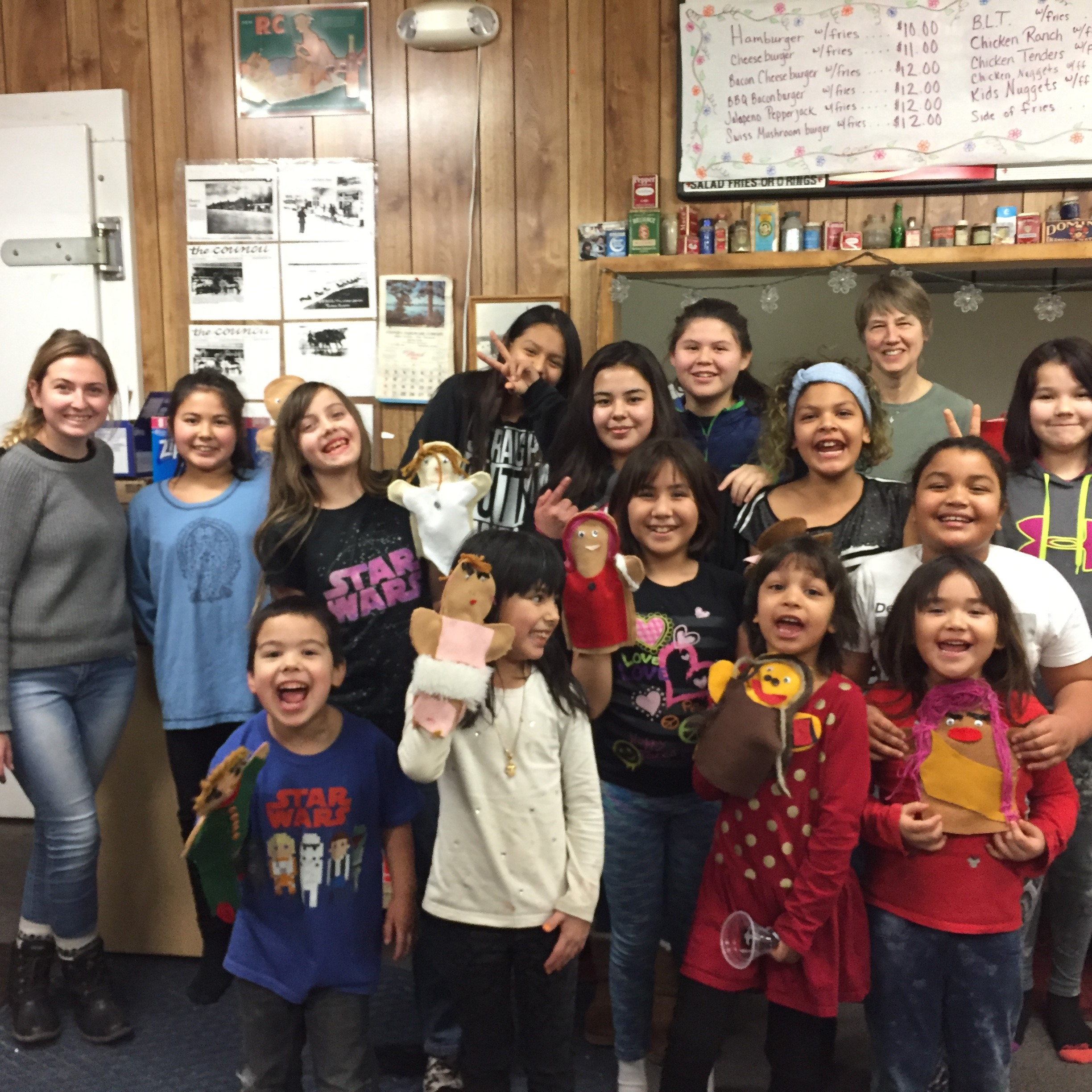 Rosemary and Carissa spent four days in Tanana with a local woman, the grocery store owner and advocate for the youth of the village. They led craft projects, including making puppets, and focused on building relationships with the village and showing the youth Jesus' love.