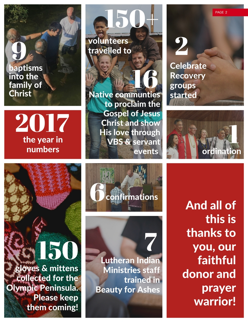 year in recap numbers lutheran indian ministries