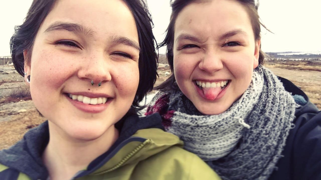 Lissa (left) and Patricia Deveaux grew up in Kuujjuaq, the largest town in Nunavik. Photo courtesy of Patricia Deveaux.