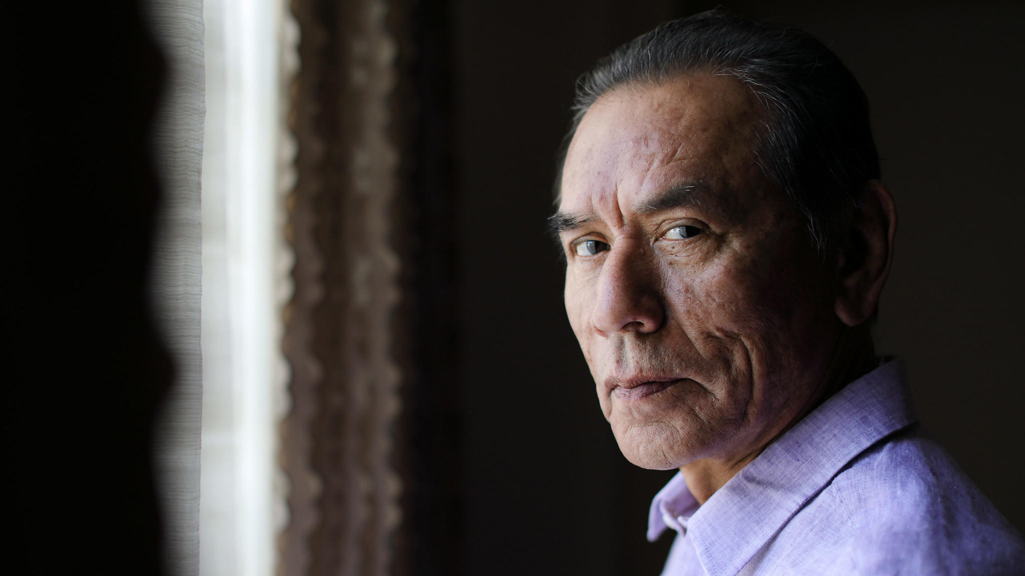 """Wes Studi stars in the new western """"Hostiles."""" (Myung J. Chun / Los Angeles Times) lutheran indian ministries native news"""