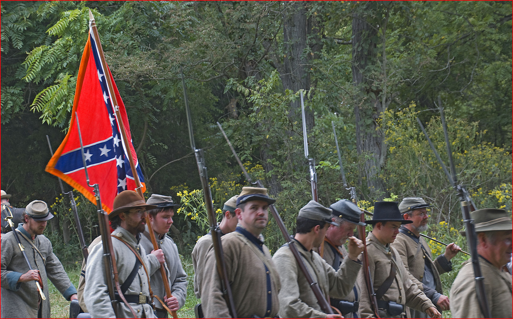 confederate-reenactors.jpg pros and cons of re-enacting lutheran indian ministries native news