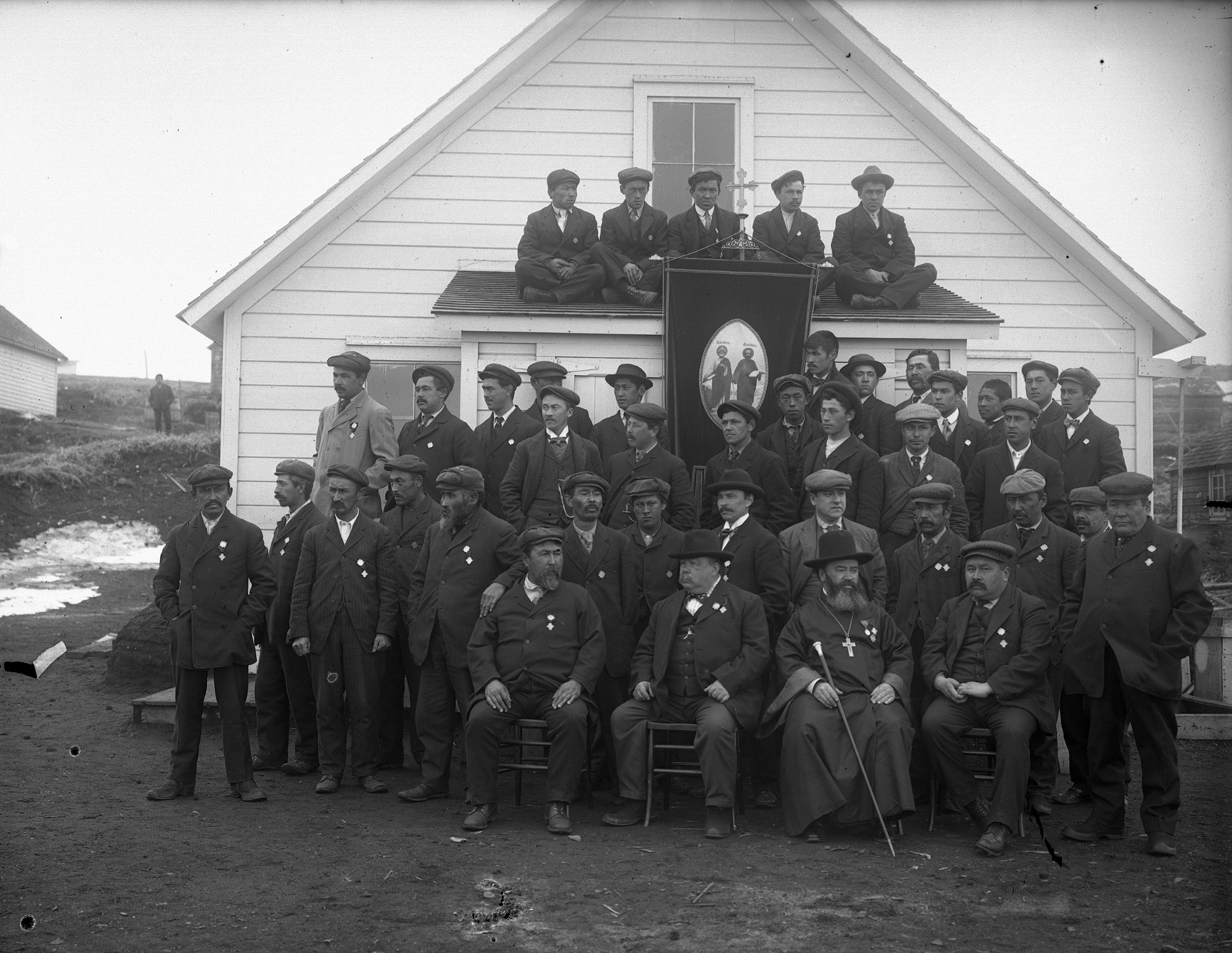 Indigenous Aleut residents of Saint Paul in the 1910s. Native Alaskans had inhabited the island for thousands of years before they were forcibly removed by U.S. troops during the Second World War. (U.S. National Archives) lutheran indian ministries native news