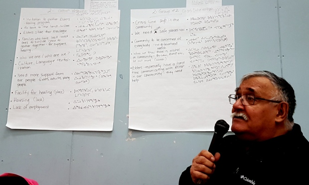 Peter Kanayuk was one of the several facilitators at the community's healing workshops earlier this month. (Submitted by Inuit Ilagiit)