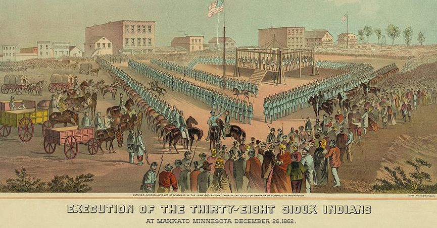That claim is largely accurate, but it's also misleading; it omits to mention that although Abraham Lincoln did approve 39 death sentences (one of the condemned men was ultimately spared), he also prevented the hangings of 264 other Native Americans by commuting their death sentences, in the same order. It also fails to make it clear that the death sentences did not originate with Lincoln. Rather, the executions were ordered by a military commission and sent to the president, who had the legal authority to approve or decline to approve any or all of the sentences. lutheran indian ministries native news