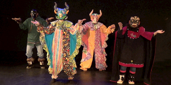 Performers of A Tale of Two Tricksters (Photo courtesy of Pregones Puerto Rican Traveling Theater) lutheran indian ministries native news