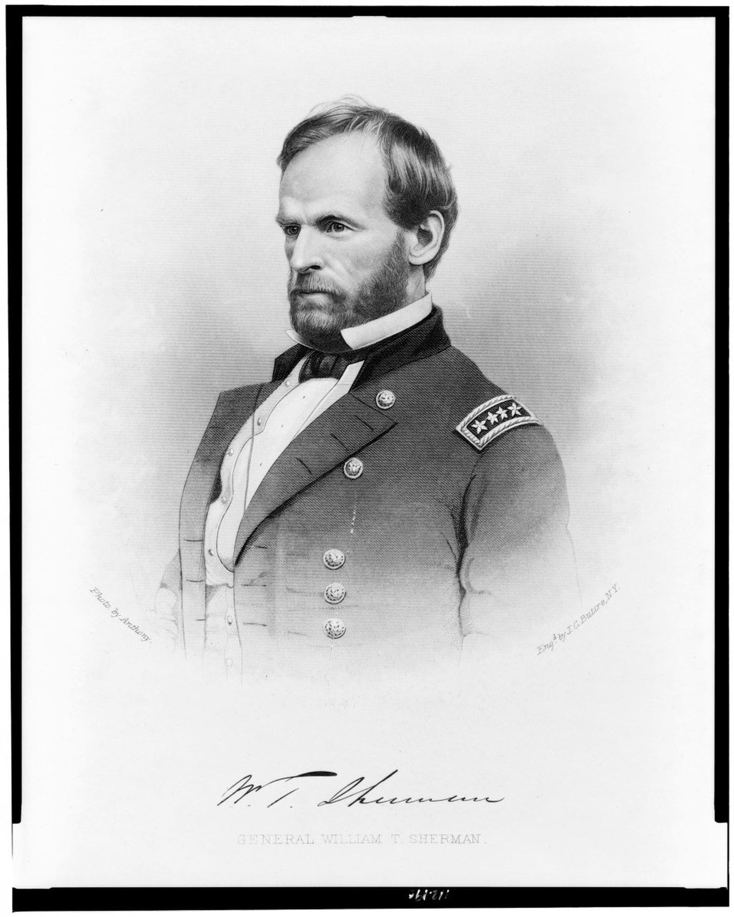 Portrait of Gen. William T. Sherman. Sherman made up half of the peace commission that negotiated the U.S.-Navajo Treaty, a copy of which was recently discovered in a Massachusetts attic. (Library of Congress Prints and Photographs Division) lutheran indian ministries native news