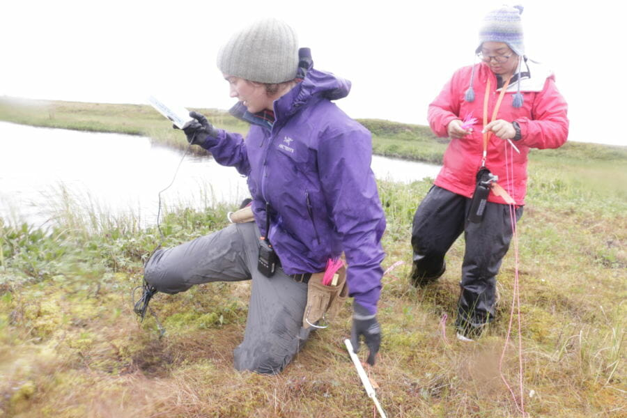 A dozen students head out into the field to study climate change in the Yukon-Kuskokwim Delta. (Photo by Krysti Shallenberger/Alaska's Energy Desk) lutheran indian ministries native news