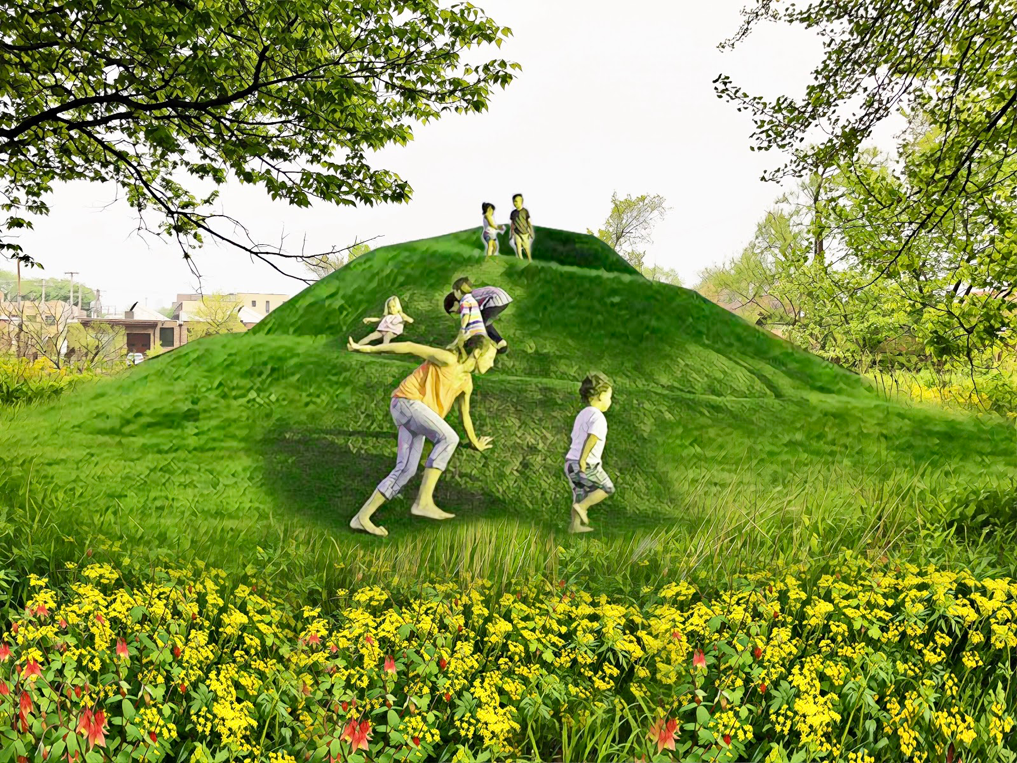 A rendering of the proposed art installation at Horner Park.IMAGE COURTESY CHICAGO PUBLIC ART GROUP
