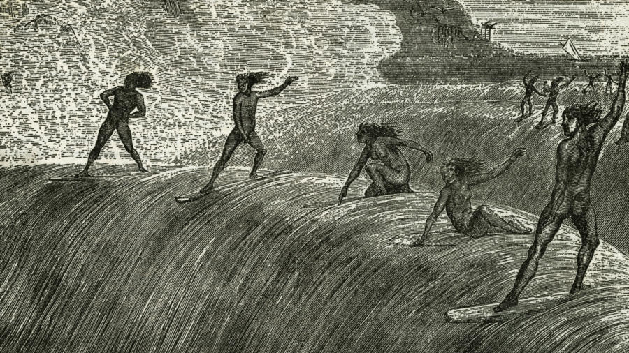 Hawaiian natives surfing on a high wave. (Credit: Bettmann Archive/Getty Images) lutheran indian ministries native news