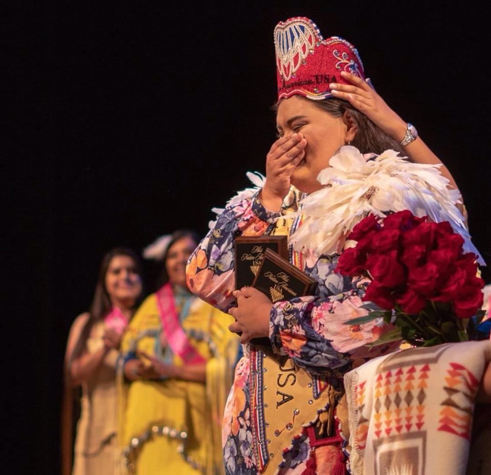 Karyl Frankiewicz crowned Miss Native American USA
