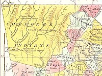 Cherokee Nation v. Georgia - Wikipedia Wikipedia Map of northeastern Georgia, showing Cherokee lands lutheran indian ministries native news