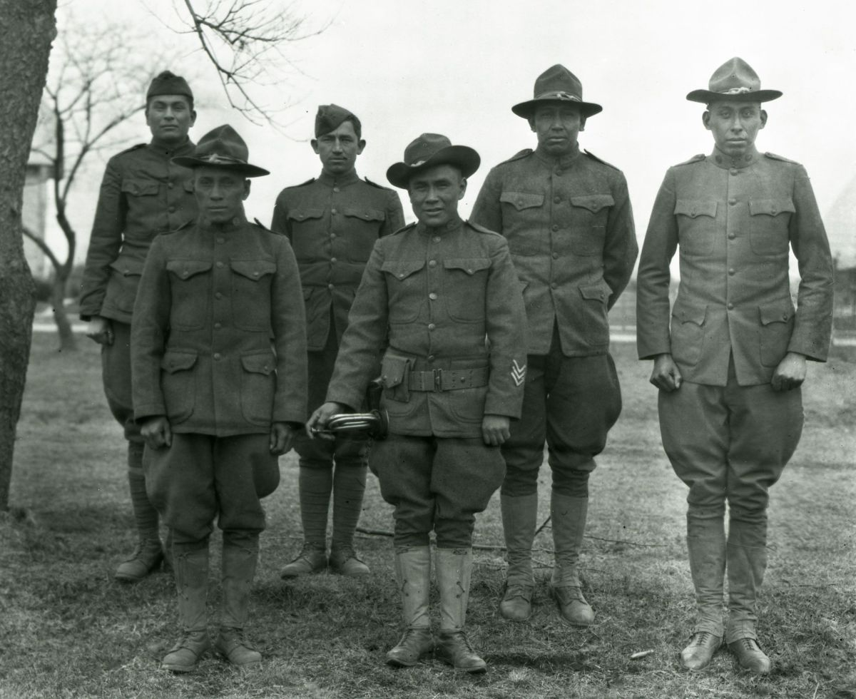 haskell native students elisted in world war I as soldiers now commemorated lutheran indian ministries native news