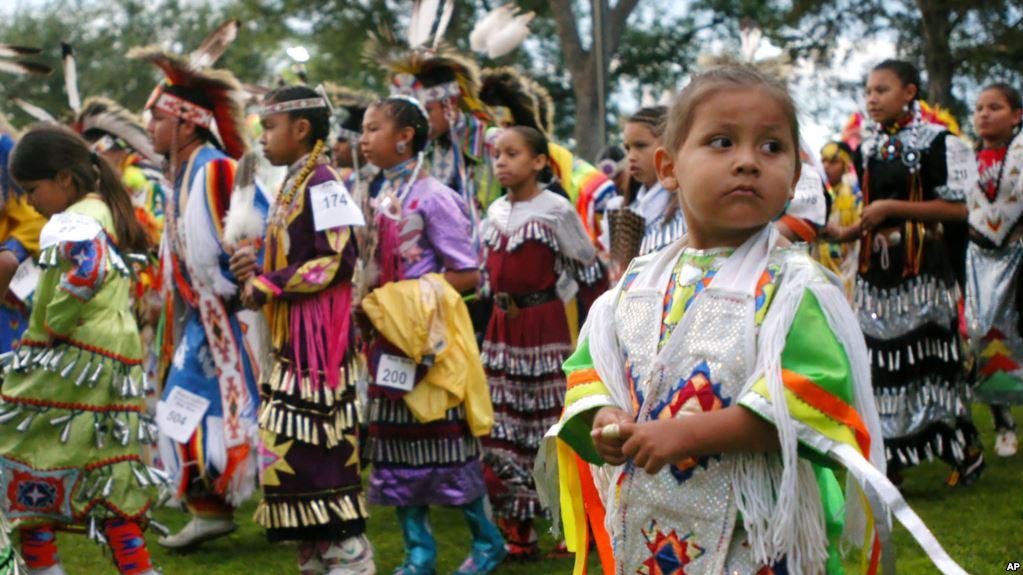 Four-year-old Bobby Morris of Wisconsin Dells, Wis.,at the Prairie Island Dakota Wacipi Celebration Pow Wow near Red Wing., Minn., on July 11, 2003.