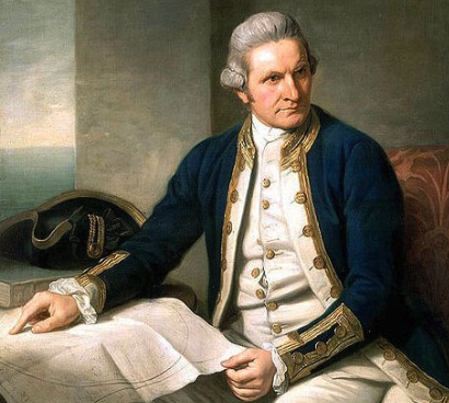 Captain James Cook. The author writes that prostitution as an institution was unknown to Native Hawaiians prior to his arrival in the islands.