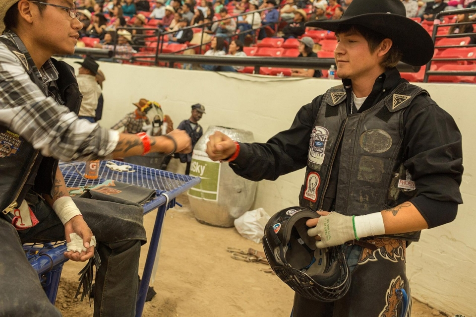At the Indian National Finals Rodeo, Native Americans give lessons on what a 21st century cowboy looks like