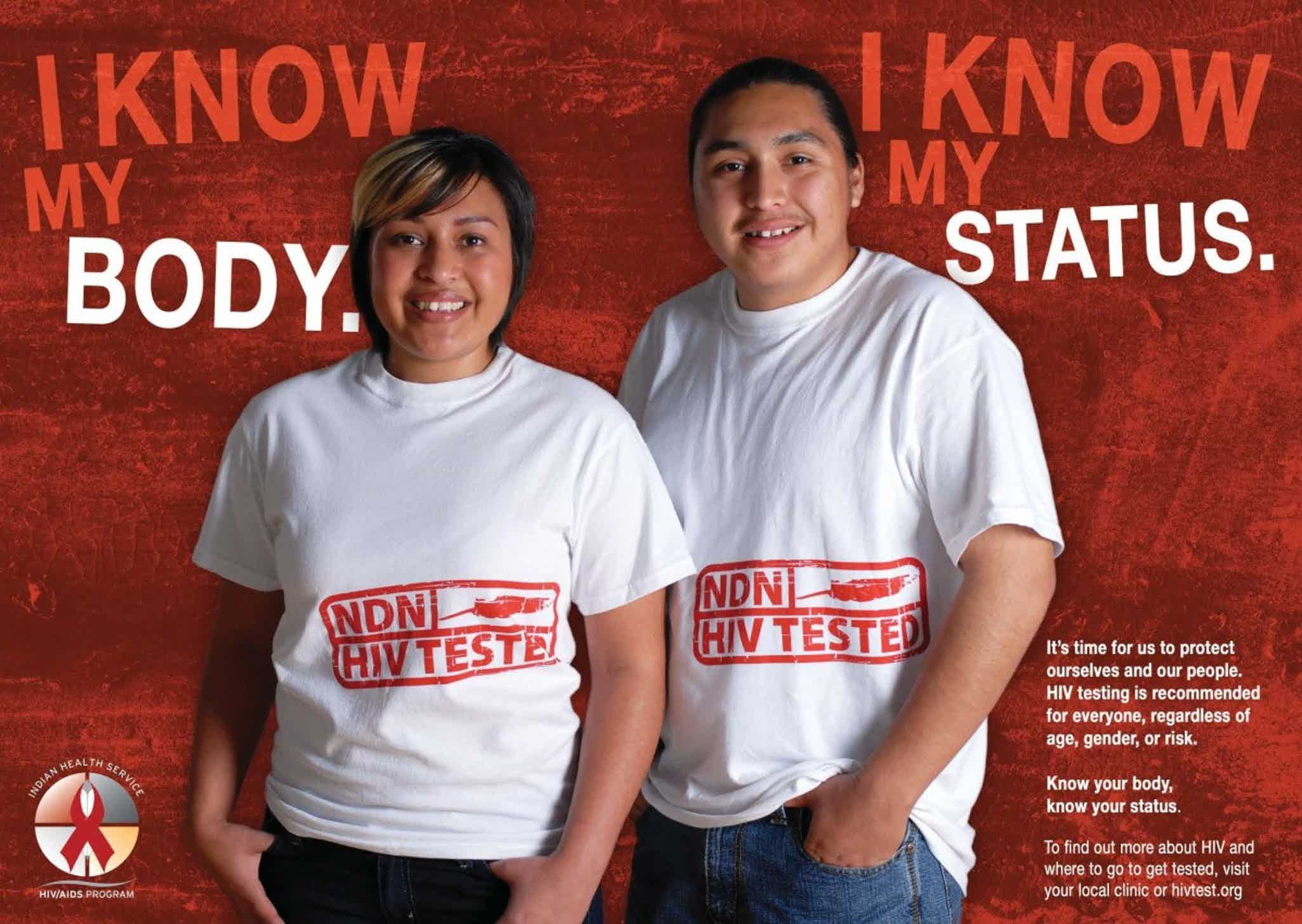 lutheran indian ministries native news - AIDS Teen Poster - Indian Health Service.jp