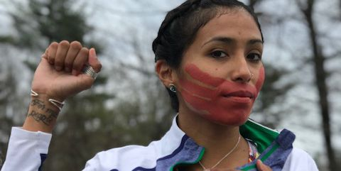The advocate marked each of the 26.2 miles with a prayer for one of the indigenous women who became victims of violence.