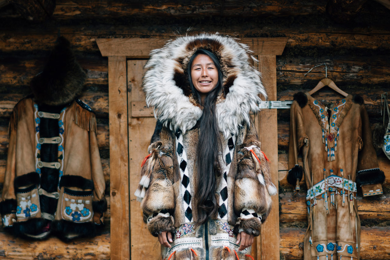 Athabascan girl in Fairbanks, Alaska