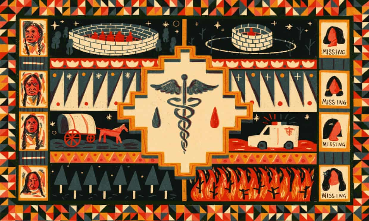 Trauma is at the root of the issues that translate into the poor health outcomes characteristic of American Indians. Illustration: Sonny Ross/Sonny Ross for Guardian US