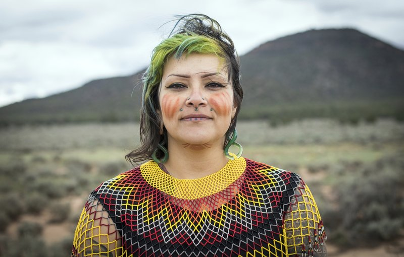 Ophelia Watahomigie-Corliss, a member of the Havasupai Tribal Council, at Red Butte, a site that the Havasupai consider sacred about 15 miles south of Tusayan, Ariz. (Amy Martin—AP)