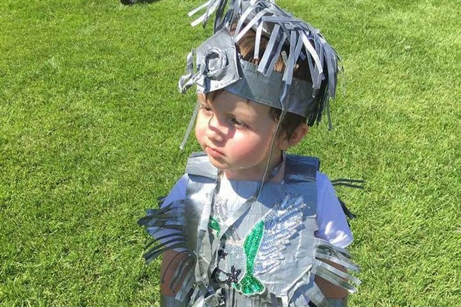 Cole Turcotte was 3-years-old when he won second prize in the Maamwi Kindaaswin Pow-Wow's initial Duct Tape family dance special.