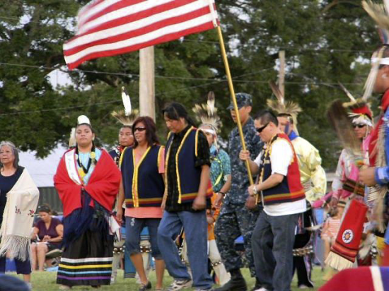 The Pawnee Indian Veterans Homecoming Pow Wow recognizes returning military servicemen and women. Pawnee, Oklahoma. The 71st annual Pawnee homecoming took place this year from June 29 to July 2. Photo courtesy of Pius Spottedhorsechief, vice president of the Pawnee Indian Veterans.