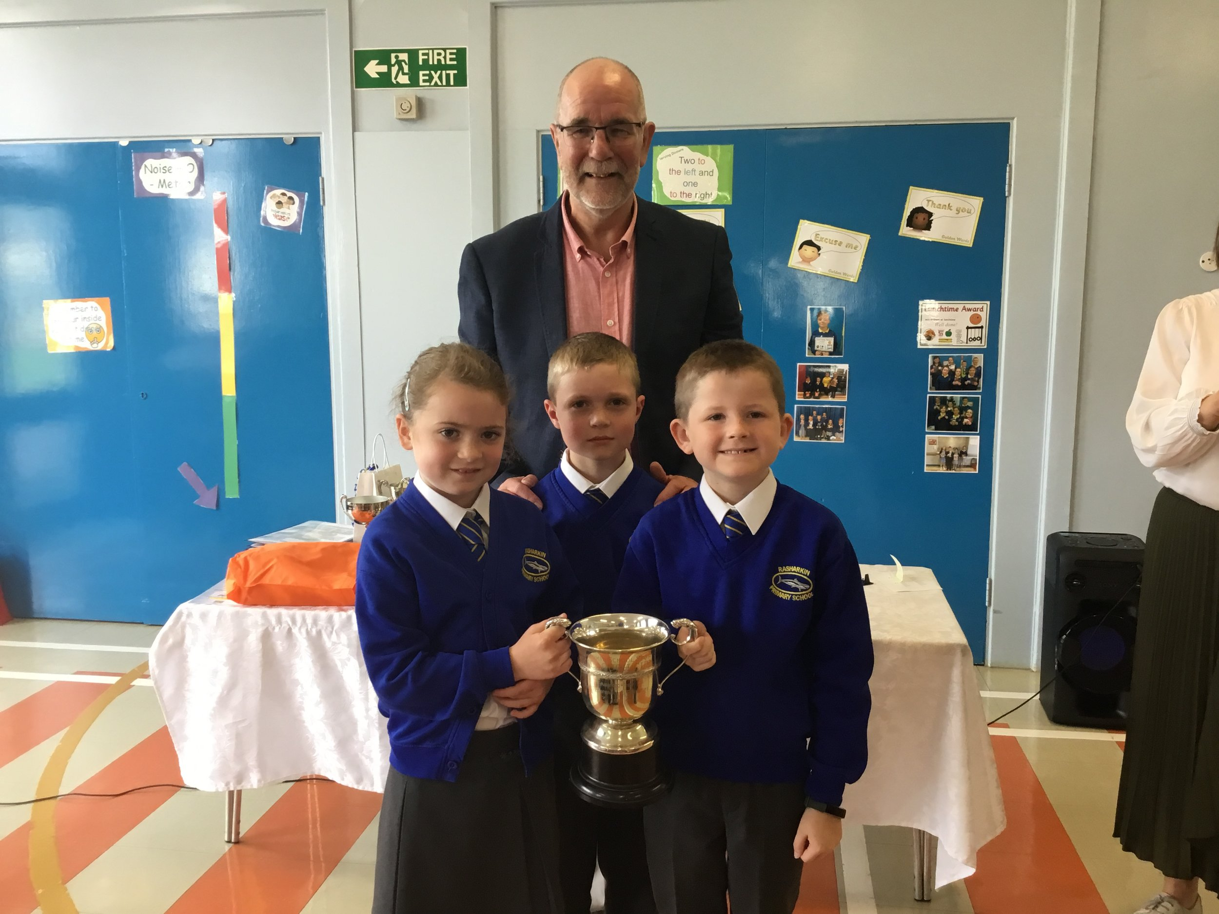 Tilly, Sam and Dan - Killough Cup for P3/4 Sports