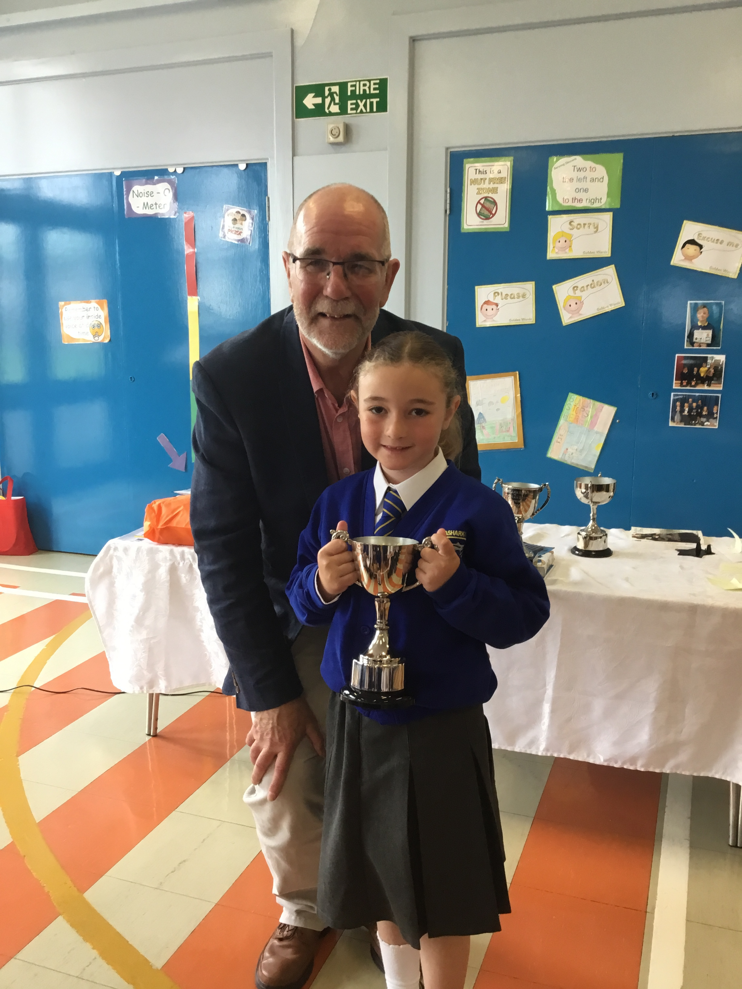 Hollie - Neill Cup for Good Conduct in P1/2