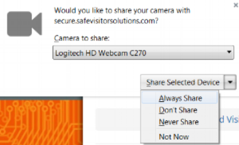 """Select the option """"Always Share""""."""