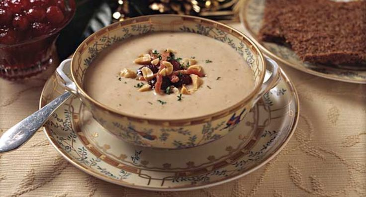 Williamsburg-style peanut soup from the Colonial taverns.