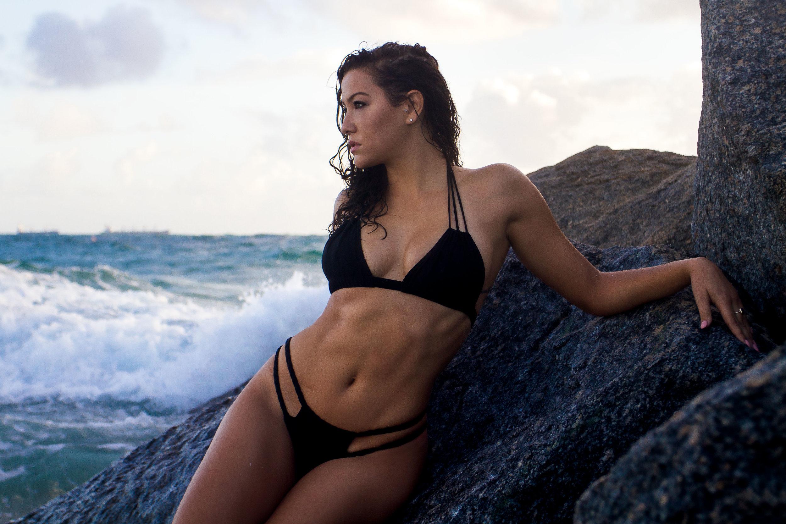Yoga Bikini Model