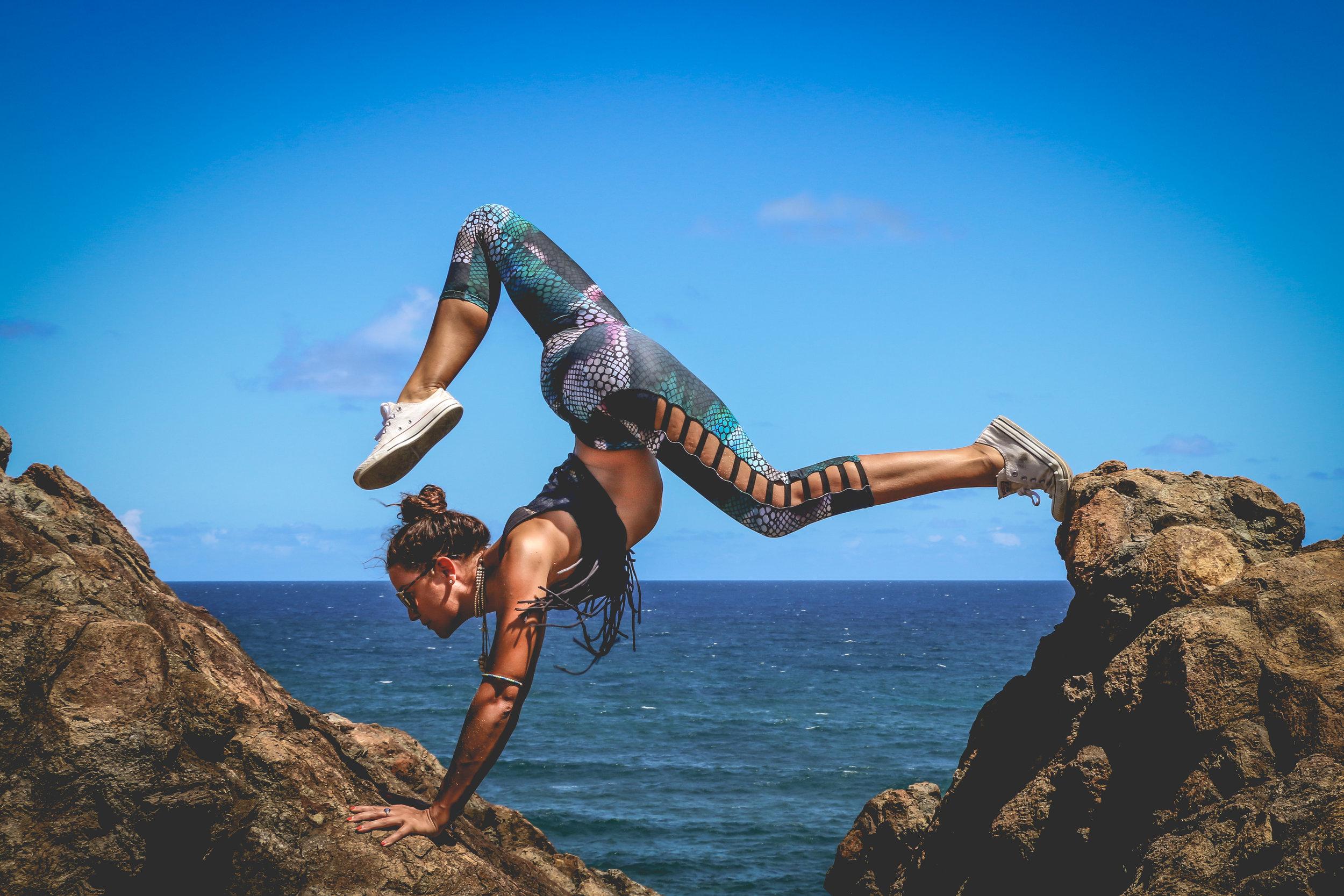 Crazy yoga pose