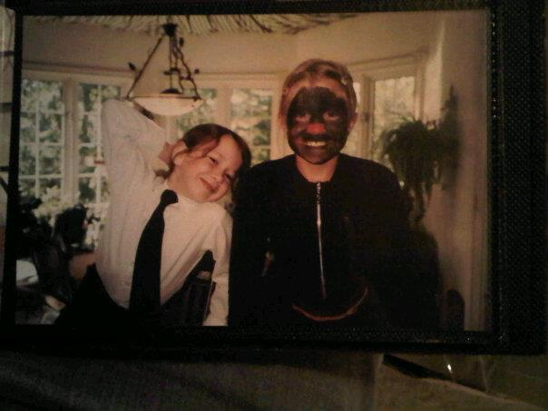 "Sidebar: This is not racist, this is a total lack of face painting abilities or cultural awareness. This is ""Muffy the Dog"" as portrayed by my cousin. I had a leash for Muffy and would feed her cereal out of a bowl on the floor while our parents watched - because even then I believed this shit qualified for an audience."