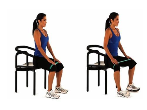 Here is the other exercise with the band. Bring knees out-to-the-side with the emphasize on that Right Knee. 10 Reps x3/day