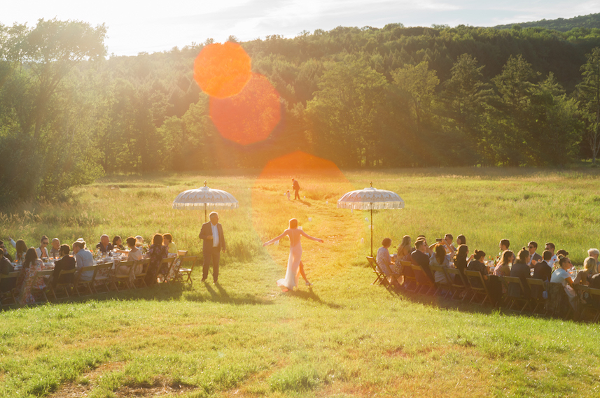 Part of the appeal of a Hudson Valley wedding is the wide-open space in which you can gather friends and family for your nuptials, like Hayfield, pictured, in the heart of the Catskills. Photo: John Dolan