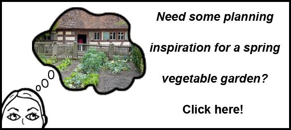 Spring Veggie Garden Inspiration Button