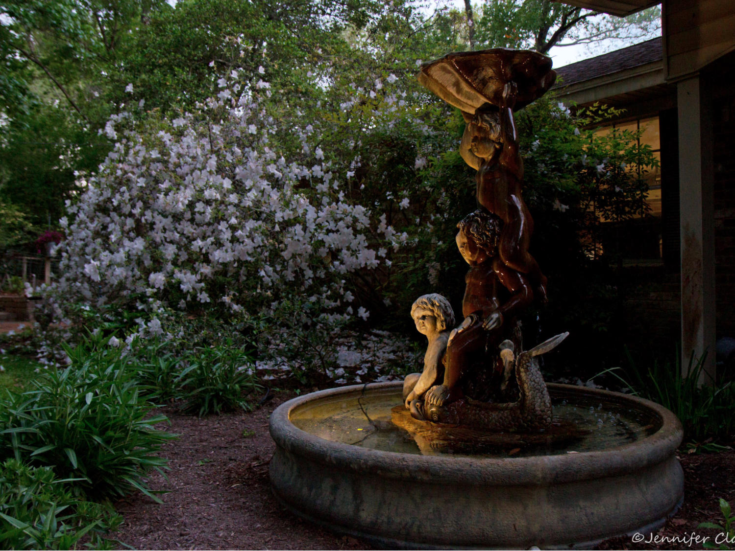 Water features can also add an alluring touch and soothing ambiance to your outdoor garden room.