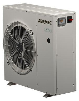 AERMEC's chillers and heat pumps are available as small as 2.5 tons
